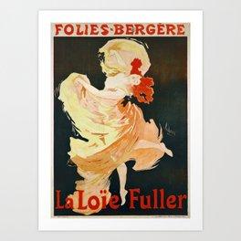 Vintage French poster - Jules Cheret - La Loie Fuller Art Print