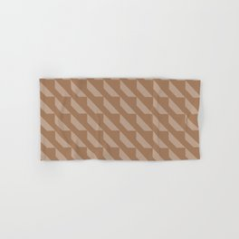 Modern Simple Geometric 4 in Cinnamon Hand & Bath Towel