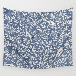 Wonderlust blue#Birds let's run away Wall Tapestry