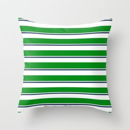 Sea Shanty (emerald and navy) Throw Pillow