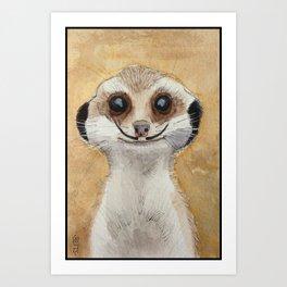 Meerkat 'Stache Art Print