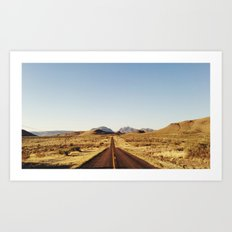 Golden Rolling Hills Road Art Print