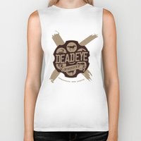 whiskey Biker Tanks featuring Deadeye Whiskey! by Nick Rees Illustration