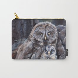 Wood  -  Owls Carry-All Pouch