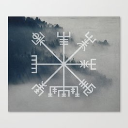 Vegvisir | Forest background Canvas Print