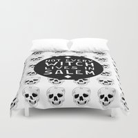 coven Duvet Covers featuring HOMELESS. by Francesca Skellington