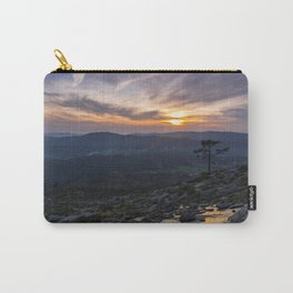 Silhouette of a isolated tree at sunset Carry-All Pouch