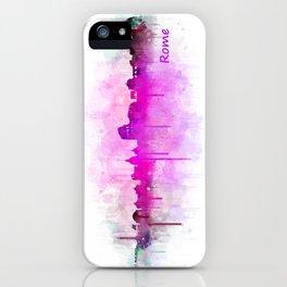 Rome city skyline HQ v05 pink iPhone Case