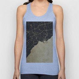 Toronto Gold and Black Street Map Unisex Tank Top