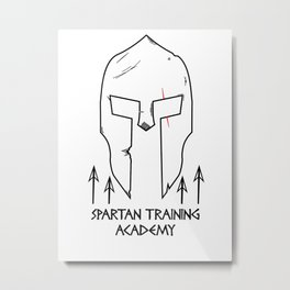 Spartan Workout Training Academy Metal Print