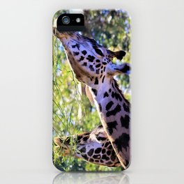 Giraffes - It's a Long Story - by Reay of Light Photography iPhone Case