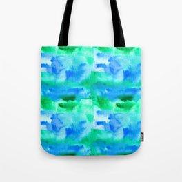 Vivid green and blue watercolors pattern Tote Bag