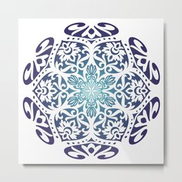 Mandala2 colors Metal Print