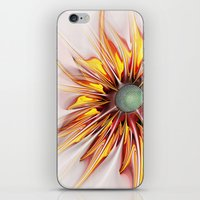 sunflower iPhone & iPod Skins featuring Sunflower by Klara Acel