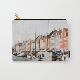 The Row | City Photography of Boats and Colorful Houses in Nyhavn Copenhagen Denmark Europe Carry-All Pouch