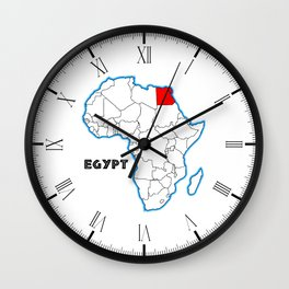 Egypt Map Wall Clock