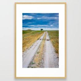sky blue Framed Art Print