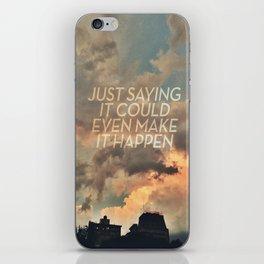 cloudbusting iPhone Skin