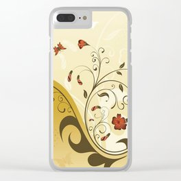 Art Flowers V13 Clear iPhone Case