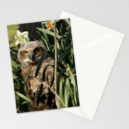 Among the daffodils Stationery Cards
