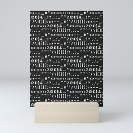 Typography Special Characters Pattern #2 Mini Art Print