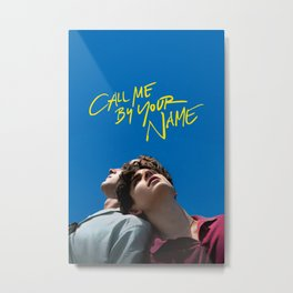 CALL ME BY YOUR NAME MOVIE POSTER FILM ART A4 A3 PRINT CINEMA Metal Print