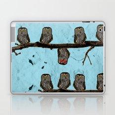 Perched Owls Print Laptop & iPad Skin