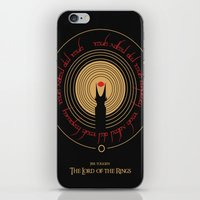 lord of the rings iPhone & iPod Skins featuring Lord Of The Rings by outofreception