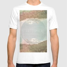 stratosphere MEDIUM White Mens Fitted Tee
