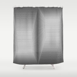 Binary Rooms Shower Curtain