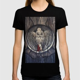 Embrace Fear // Little Red Riding Hood Fairy Tale Wolf Girl Wolves Owl Moon Night Dark Forest Woods T-shirt