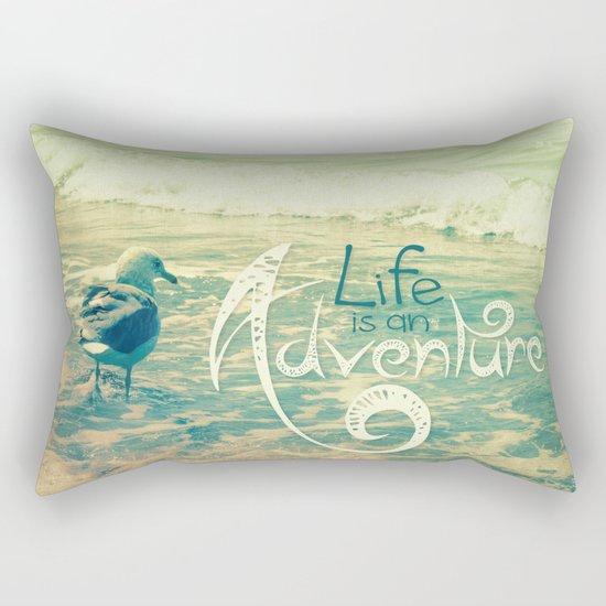 California Beach Seagull Rectangular Pillow