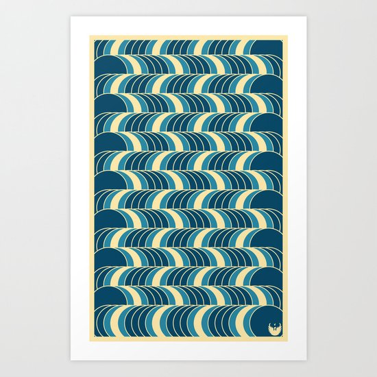 Barrels Pattern Art Print