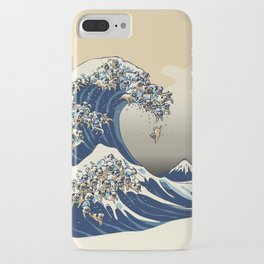The Great Wave of Pugs Vanilla Sky iPhone Case