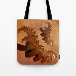 spiral forms on grungy texture -1- Tote Bag