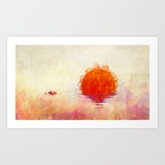 The Fisherman and His Boy Art Print