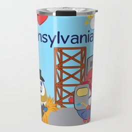 Ernest and Coraline | I love Pennsylvania Travel Mug