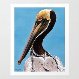Pelican Blue Art Print