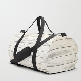 Light Natural Wood Texture Duffle Bag