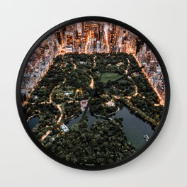 Central Park New York Wall Clock