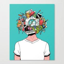 Creative Head Canvas Print