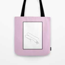Crossed arms illustration - Amy - Pink Border Tote Bag