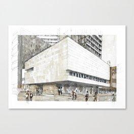 Urban watercolor - Colombia Canvas Print