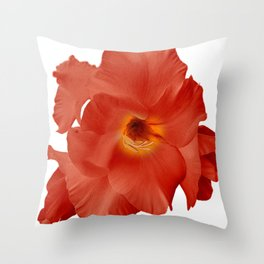 Sword Lily Red Yellow Throw Pillow