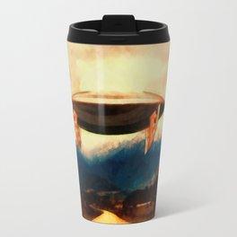 UFO Over Highway Travel Mug