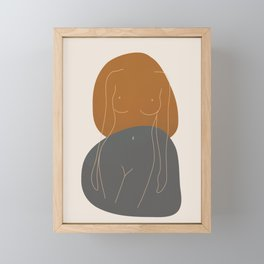 Line Female Figure 81 Framed Mini Art Print