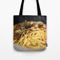 pasta Tote Bags featuring Pasta by alemazza