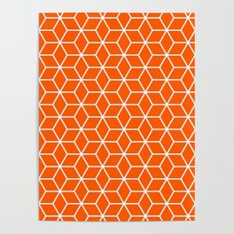 Winter 2019 Color: Unapologetic Orange in Cubes Poster