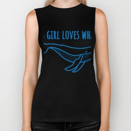 This Girl Loves Whales Funny Animal Friend T-Shirt Biker Tank