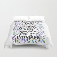 1989 Duvet Covers featuring Hidden Message 1989 by IndigoEleven
